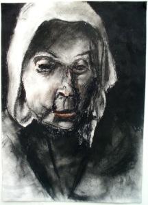 """Eino Steinstad – Drawing: """"Stemorsstudie"""""""