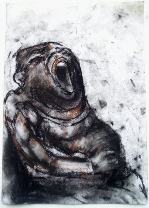 "Eino Steinstad - Drawing: ""Det Tykke Barnet"""