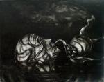 """Eino Steinstad – Drawing: """"Euforisk undergang"""""""