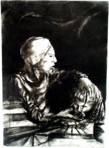 "Eino Steinstad – Drawing: ""Uhjelp"""