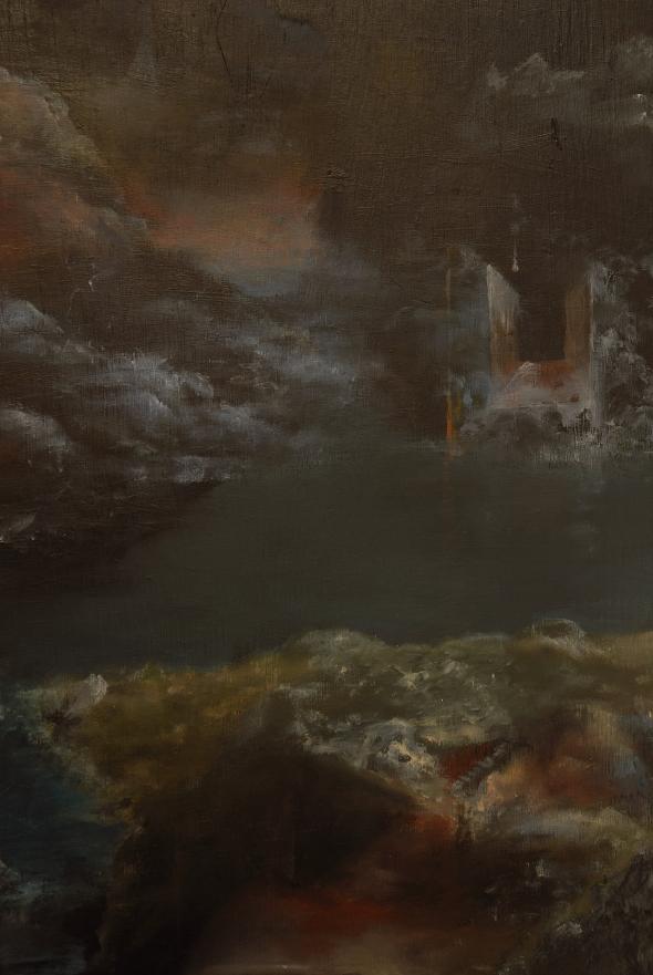 "Eino Steinstad – Painting: ""Heimgardstun"" (detail)"